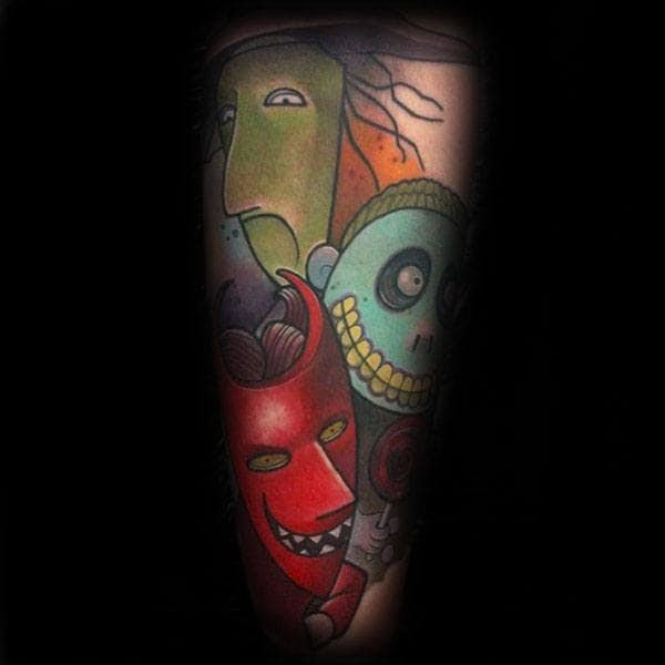 100 Nightmare Before Christmas Tattoos For Men Design Ideas