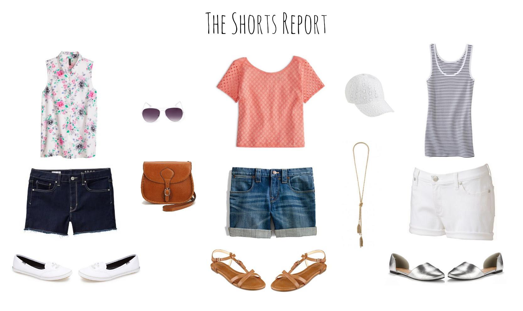 14 Ways to Wear Denim Shorts - La Petite Pear
