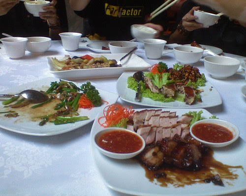Our FREE dinner at Ye Chine
