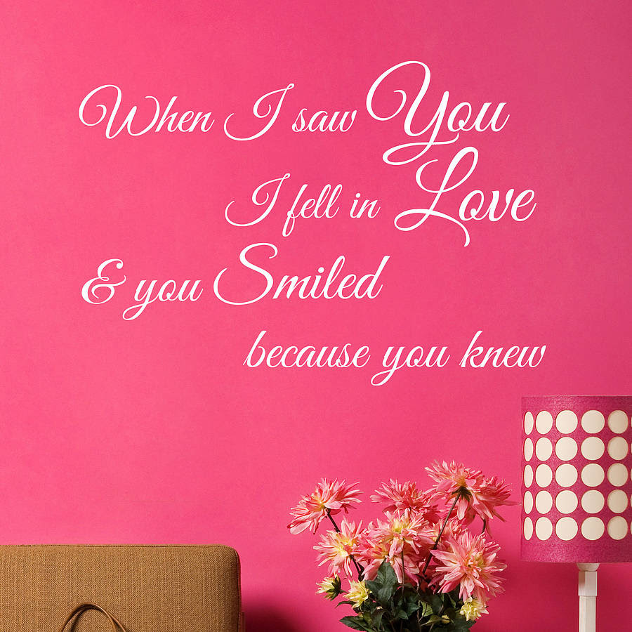 short love quotes for walls