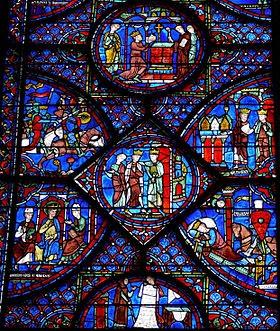D coration de la maison un vitrail de la cathedrale de for Vitrail decoration