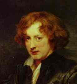 Anthony van Dyck.  Auto Retrato.  Detalhe.