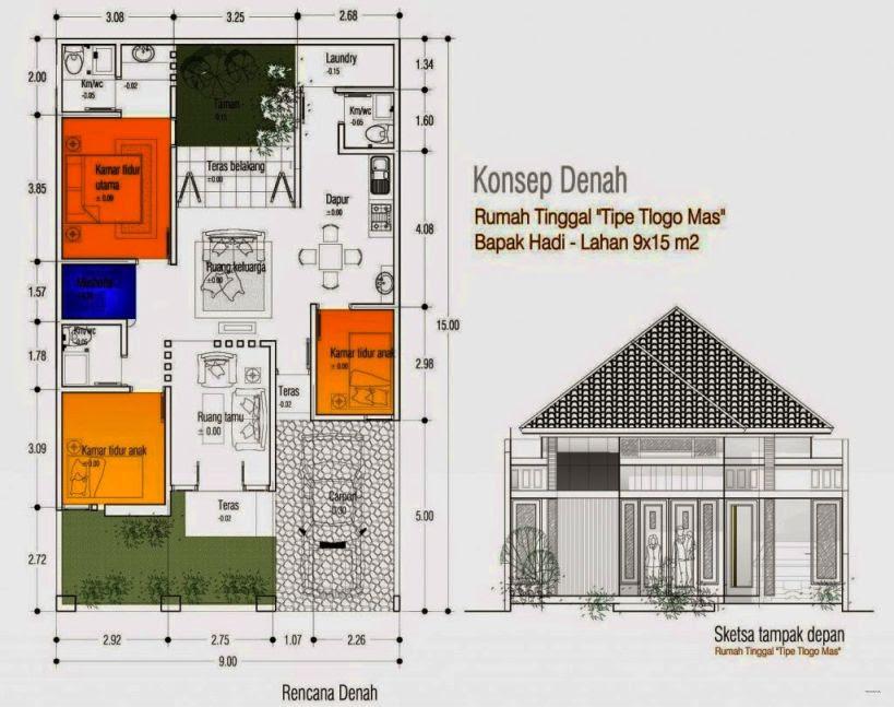 86 Gambar Desain Rumah 3 Kamar Dan Garasi Yang Bisa Anda Contoh