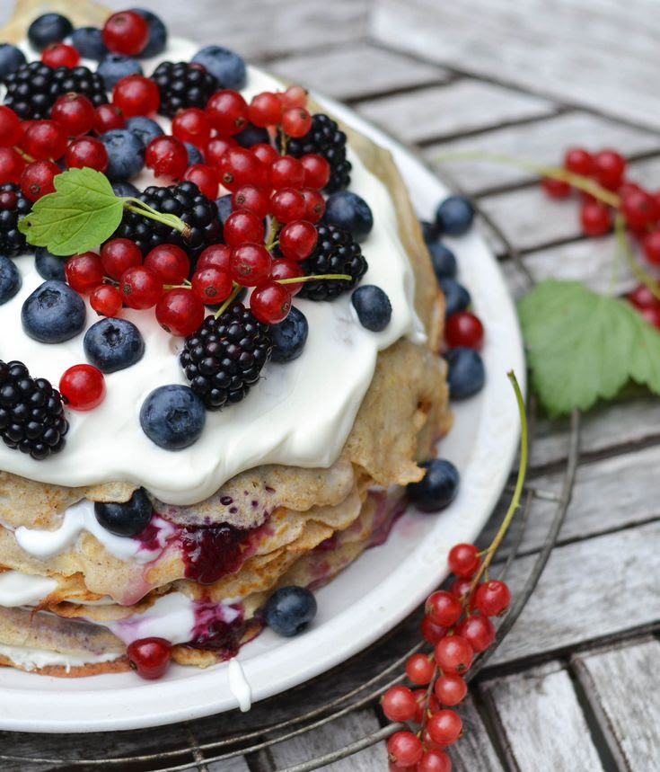 Nordic Pancake Cake by pastryaffair #Pancakes #Berries