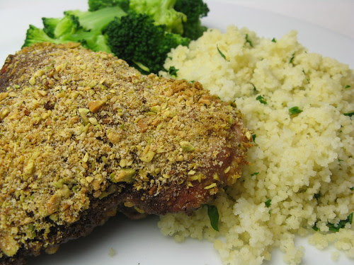 Pistachio Crusted Pomegranate Chicken