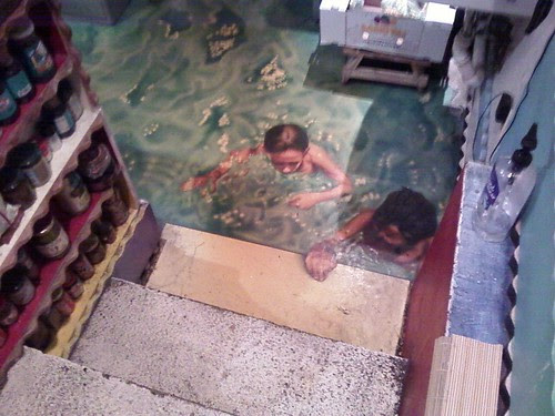Floor in kitchen of O st. Mansion