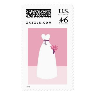 White Wedding Dress stamp