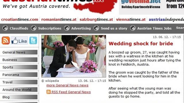 Noivos se separaram na festa de casamento