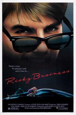 Film poster for Risky Business - Copyright 198...