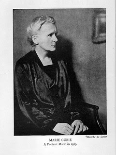 Portrait of Marie Curie 1929 From Eve Curie's Biography