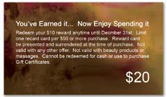 CPS-1089 - salon coupon card