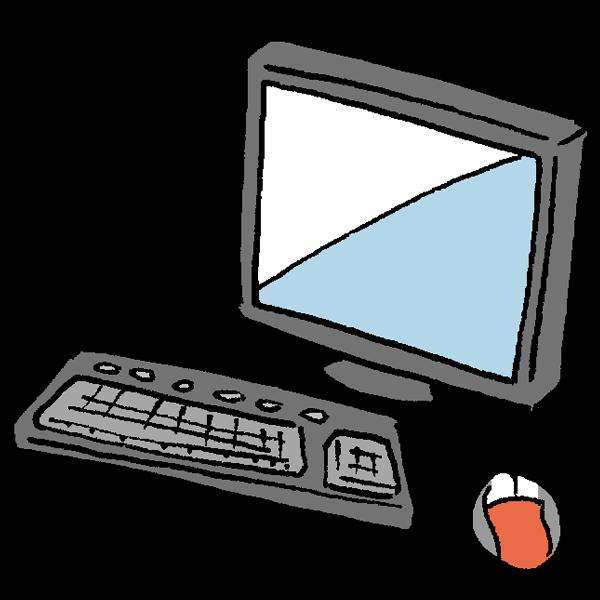 パソコンとマウスのイラスト かわいいフリー素材が無料のイラストレイン
