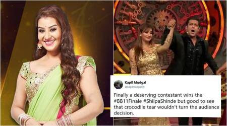 Shilpa Shinde's the winner of Bigg Boss 11 finale, and Twitterati are overjoyed about the 'deserving' win