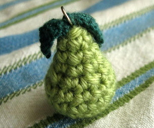 Tiny Pear Necklace Charm