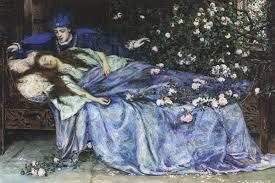 A bela adormecida Talia de Basile