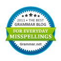 The Best Grammar Blog of 2011 for Everyday Misspellings