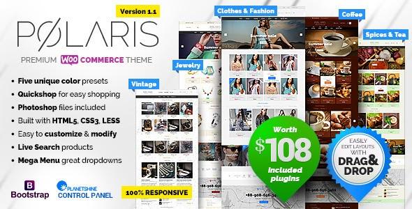 Polaris v1.1.39 - Minimal & Powerful Multipurpose Theme