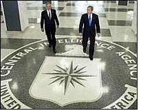 Goss and Bush at the CIA