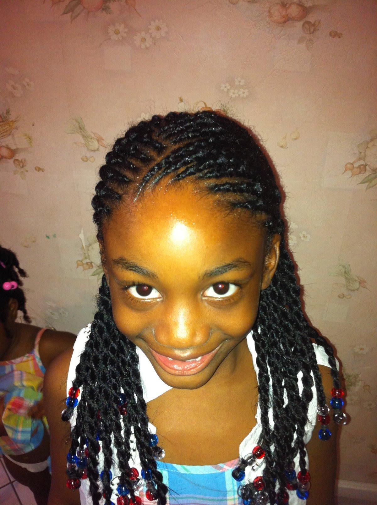 Coiffure Afro Vanille Avec Rajout 3d Cubic Twist Crochet