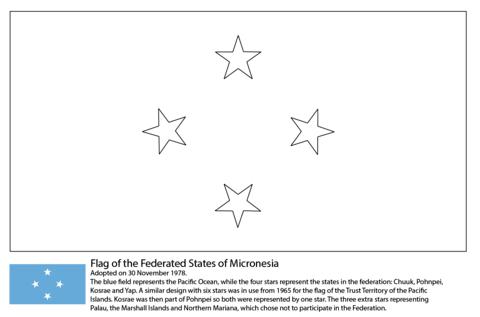 Coloriage Drapeau Des Etats Fédéraux De Micronésie Coloriages à