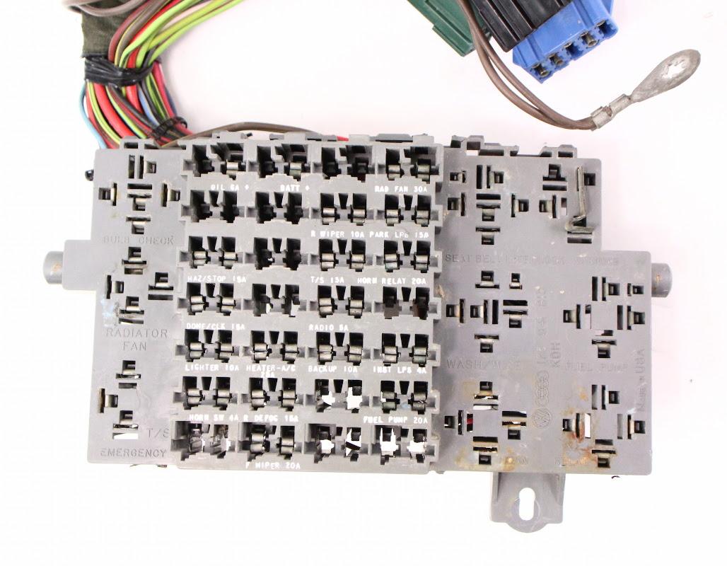 Vanagon Fuse Box - Complete Wiring Schemas