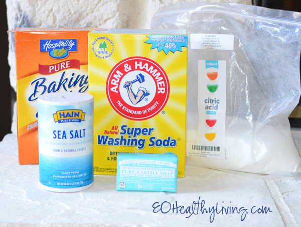 Homemade DIY Laundry Detergent - Borax Free supplies