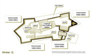 Схематично план Хустського замку