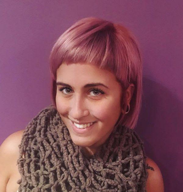 Pink Haaren Mit Kurzem Pony Allefrisurende