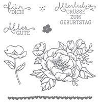 Geburtstagsblumen Clear-Mount Stamp Set (German) by Stampin' Up!