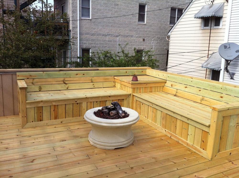 Build Deck Bench Seat