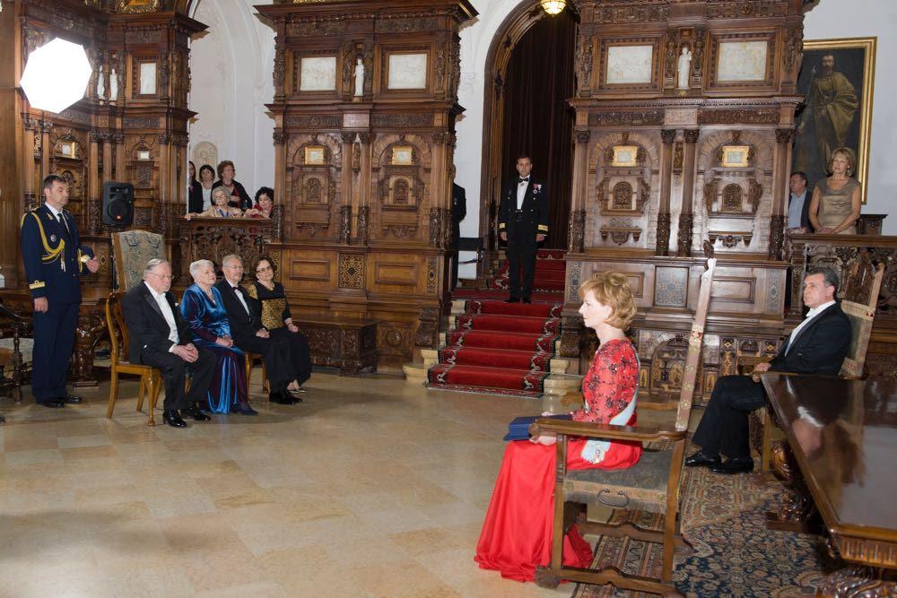 Vytautas Landsbergis, vizita la Castelul Peleș
