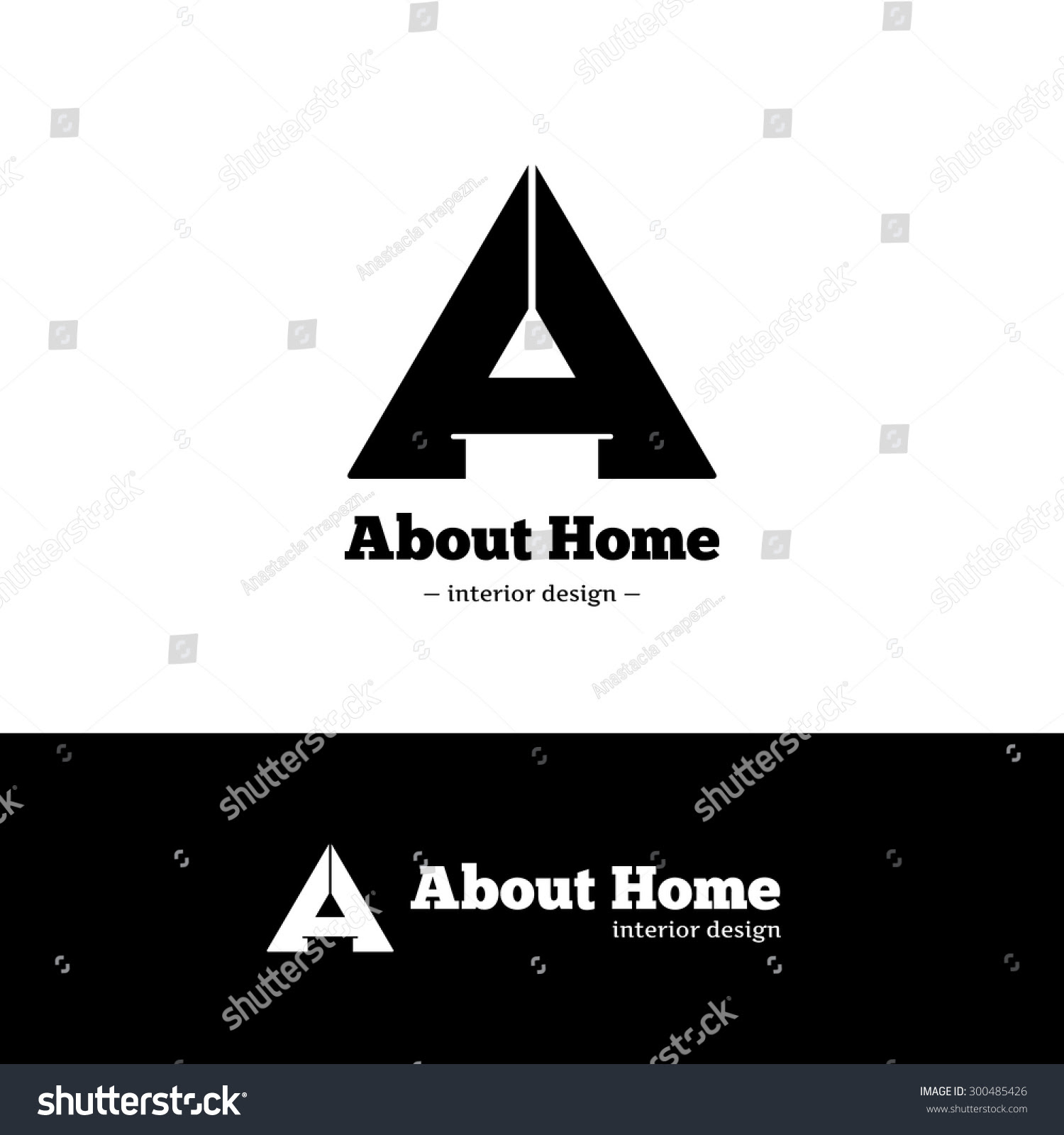 Interior design logo stock vector. Illustration of orange ...