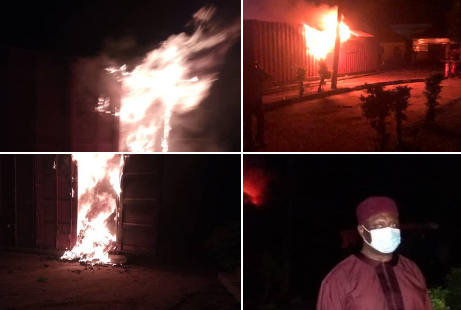 Card Readers Destroyed As Fire Guts INEC Office In Ondo