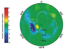 Gravity measurement data from GRACE