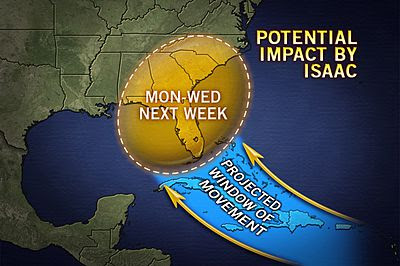 GOP Convention: August 27th-30th... Hurricane Isaac Over Florida: August 27th-29th