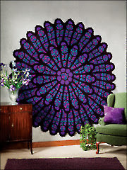 Cathedral Rose Window Afghan