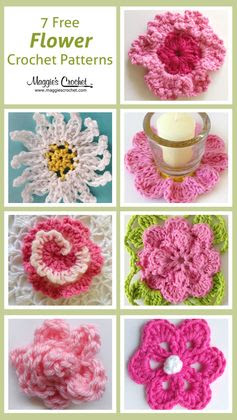 Seven Free Flower Crochet Patterns