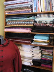 wall of fabric