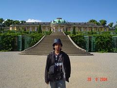 Schloss Sanssouci kat Park Sanssouci, Potsdam, Germany