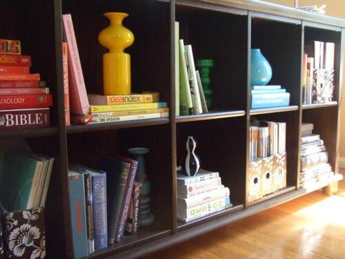 Bookcase Rainbow Display
