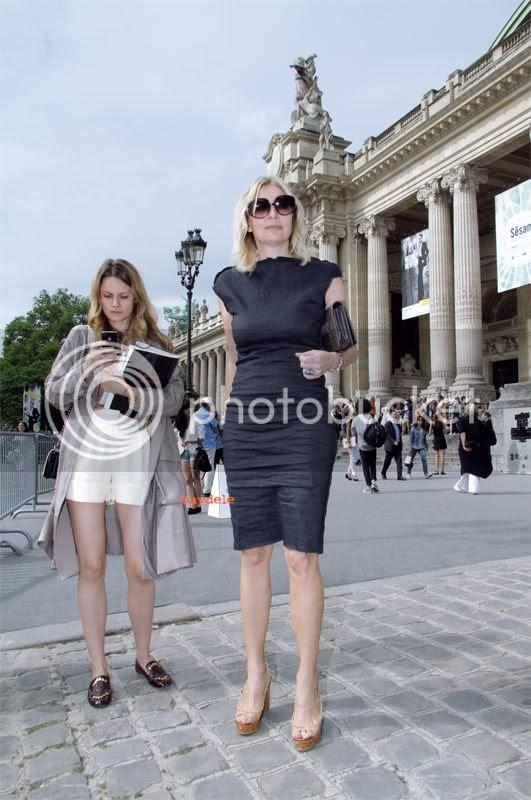 Ekaterina Mukhina wearing Chloé fringed loafers