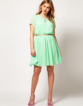 Image 4 of ASOS CURVE Skater Dress With Twist Neck