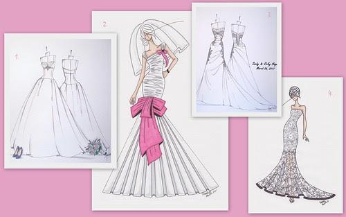 Wedding Dress Sketch Gift: Nina Renee Designs: April 2012