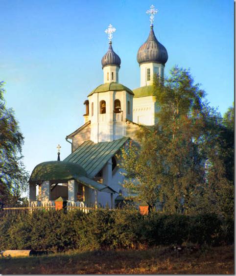 Borodino's church. Views of the Napoleonic campaign area, Russian Empire
