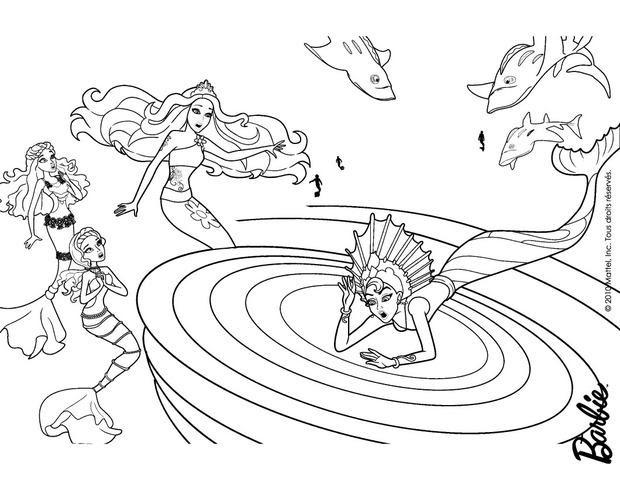Dibujos De Barbie Una Aventura De Sirenas Para Colorear 62 Laminas
