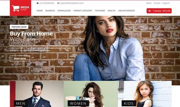 Template Mega Shop mẫu bán hàng trực tuyến