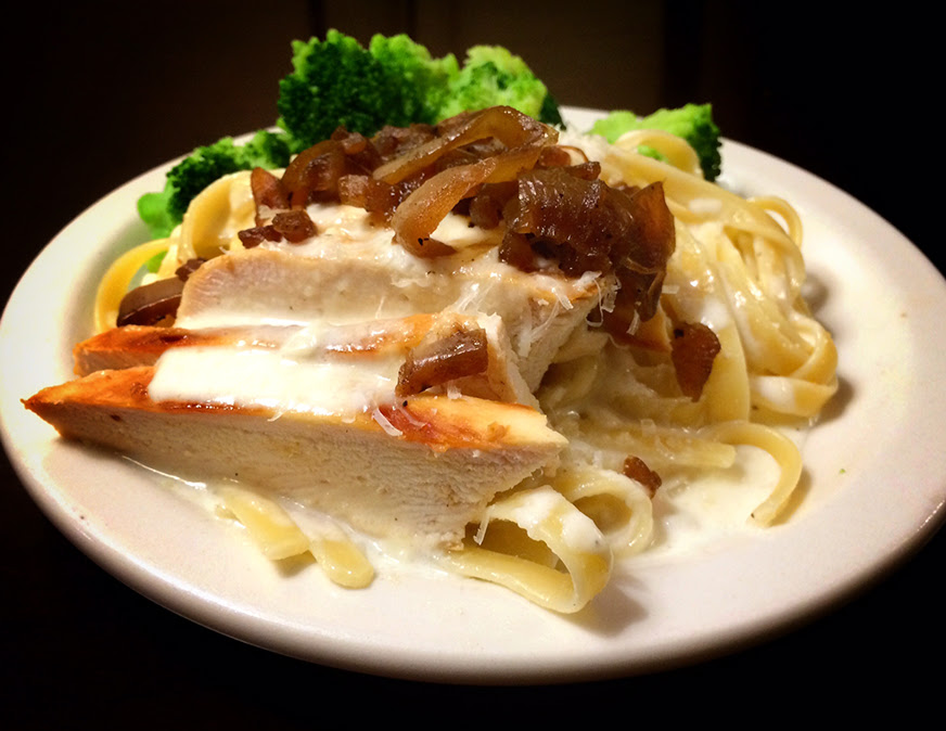 Chicken Alfredo With Caramelized Onions Recipe Tinkering