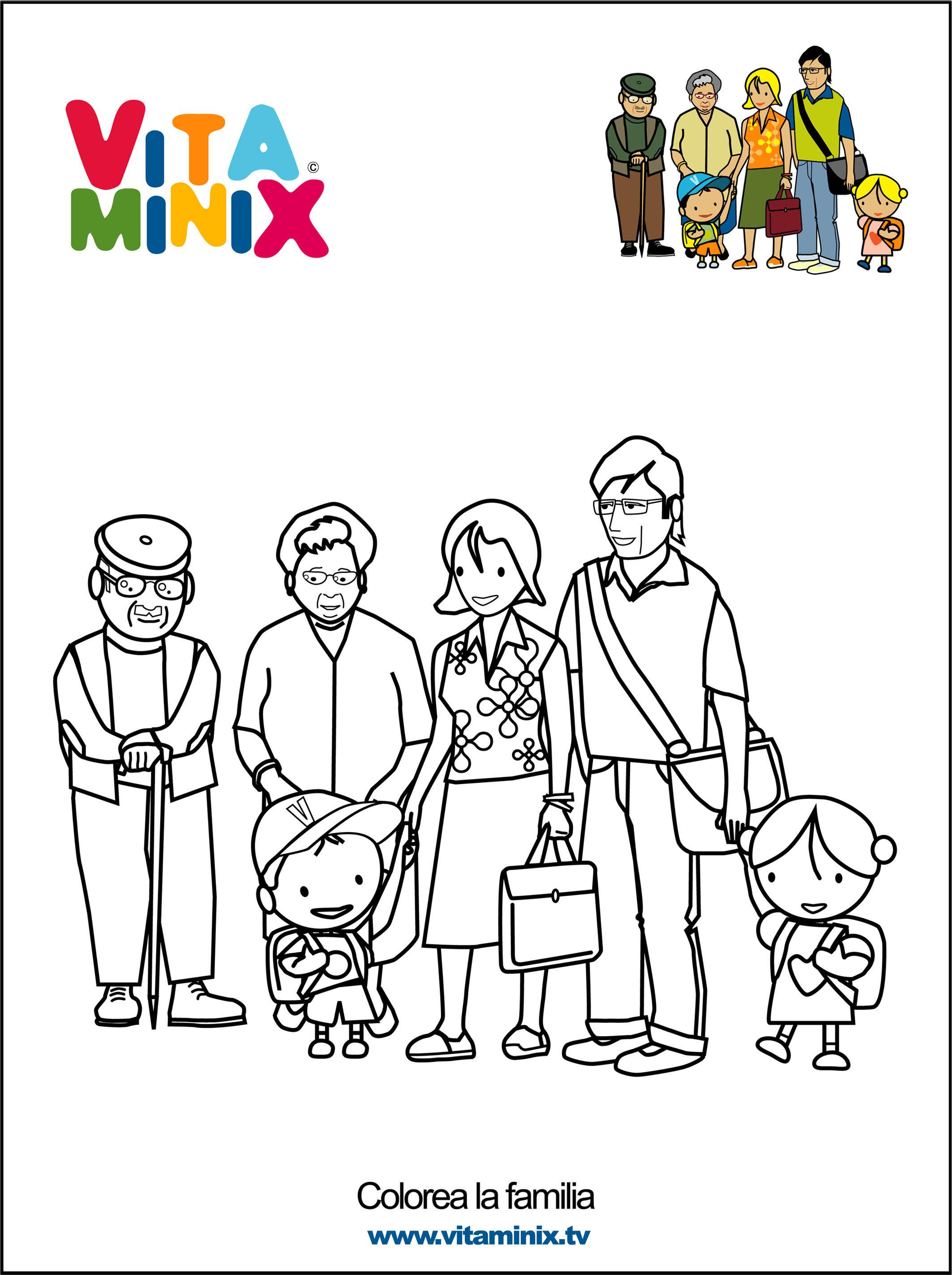 Familia Para Colorear En Ingles