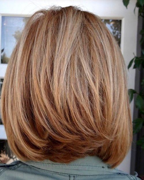 Medium Layered Bob Hairstyle/Pinterest | Haircuts