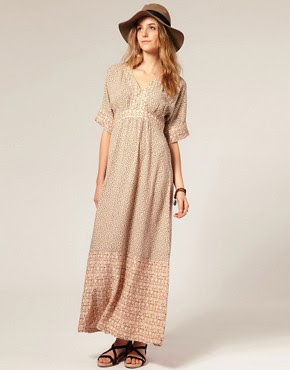 Image 1 of Vero Moda Mixed Print Maxi Dress